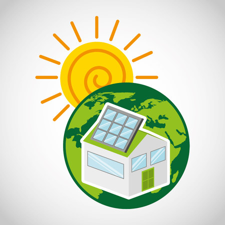 ecological alternative energy green vector illustration design Illustration