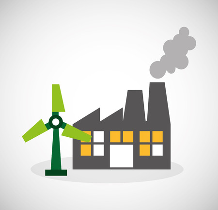 alternative: ecological alternative energy green vector illustration design Illustration