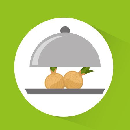 vegetable tray: tray server with vegetable menu vector illustration design Illustration