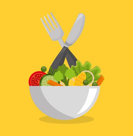 vegetarisch menu gezonde voeding vectorillustratieontwerp