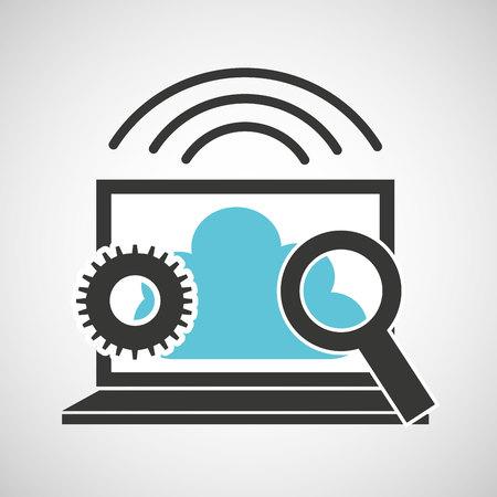 data backup: cloud computing data storage vector illustration design