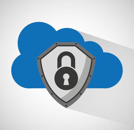 nuage de stockage de données informatiques de conception illustration vectorielle