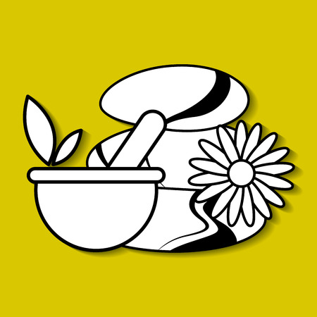 natural spa center icons vector illustration design