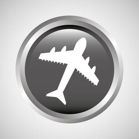 cheapness: travel concept transport airport plane button design, vector illustration  graphic