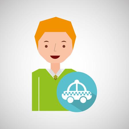 traveler: man tourist traveler taxi icon design, vector illustration  graphic