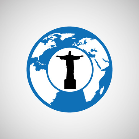 cristo: traveling world brazil monument design, vector illustration  graphic