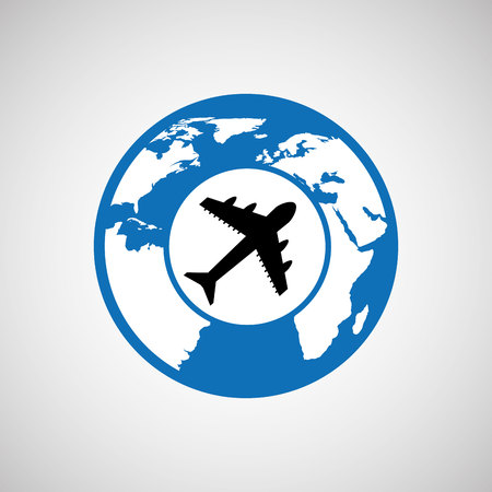 traveling world airport plane design, vector illustration  graphic