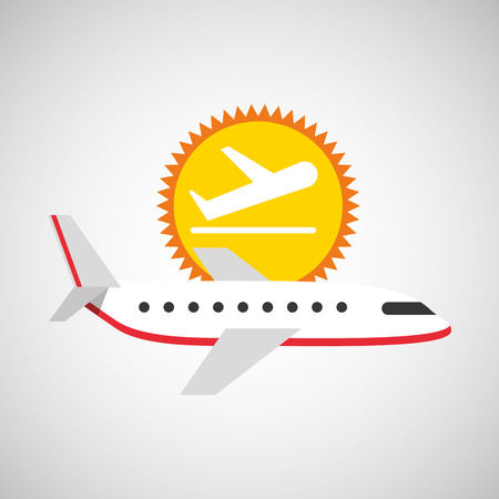plane white sun symbol travel design, vector illustration  graphic Illustration