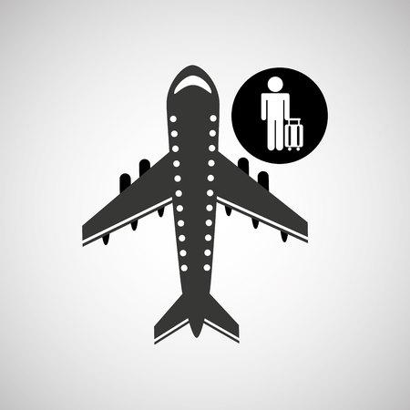 traveler: travel flying concept traveler baggage design, vector illustration  graphic