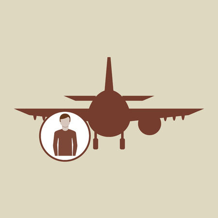 spanish food: travel concept. passenger traveler hotel. silhouette blue plane. design, vector illustration  graphic Illustration