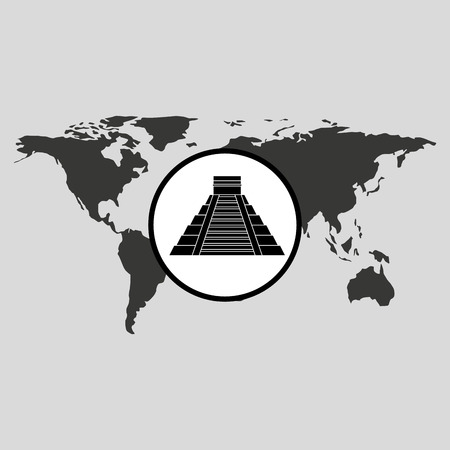 traveling world mexico monument design, vector illustration  graphic