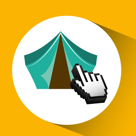 traveling concept, technology camping design, vector illustration  graphic