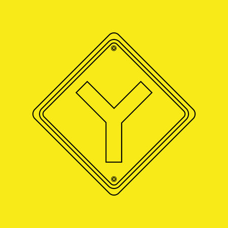 signal traffic yellow icon graphic vector illustration eps 10