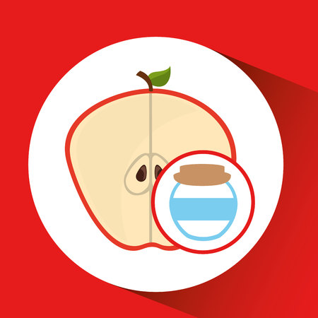 big jar jam apple icon design vector illustration eps 10