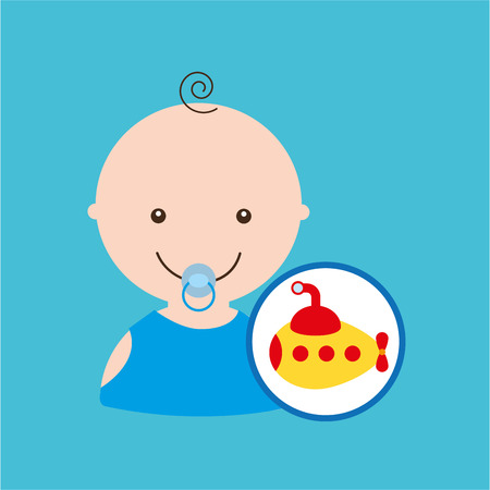 submarine cute toy baby design vector illustration eps 10