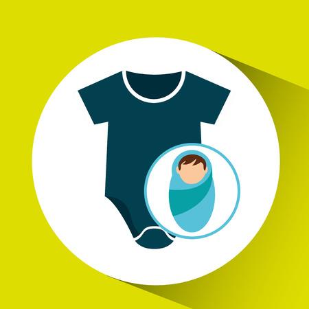 boy newborn wrap design vector illustration eps 10