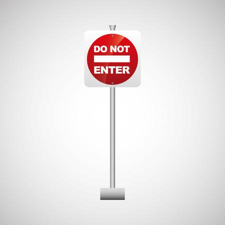 do not enter: sing red do not enter icon design vector illustration eps 10