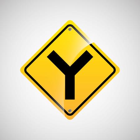 multiple lane highway: signal traffic yellow icon graphic vector illustration eps 10