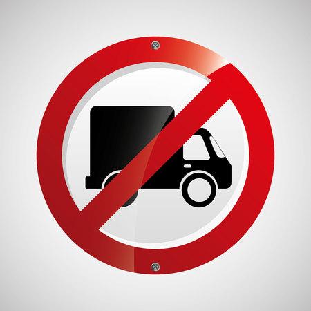 prohibited: prohibited traffic sign round icon design vector illustration eps 10 Illustration