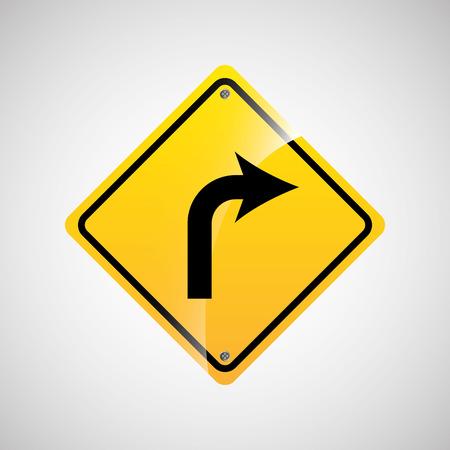 le trafic de signal icône jaune vecteur graphique illustration eps 10