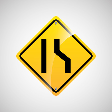 danger ahead: signal traffic yellow icon graphic vector illustration eps 10