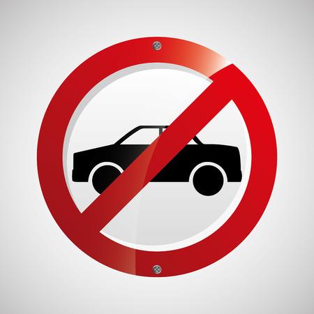 prohibido: prohibited traffic sign round icon design vector illustration eps 10 Vectores