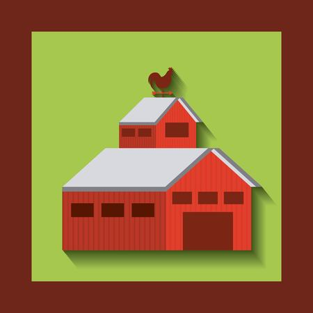 farm building: stable farm building isolated icon vector illustration design Illustration