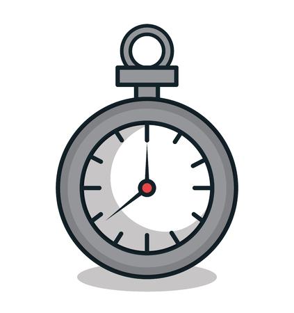 chronometer: chronometer watch isolated icon vector illustration design Illustration