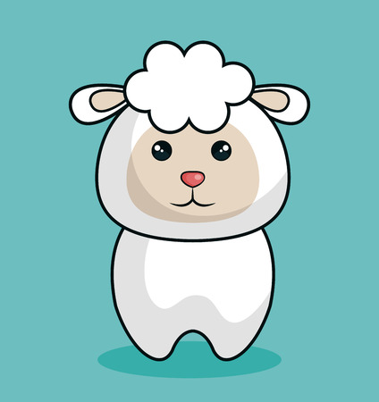 cute sheep stuffed icon vector illustration design Illustration