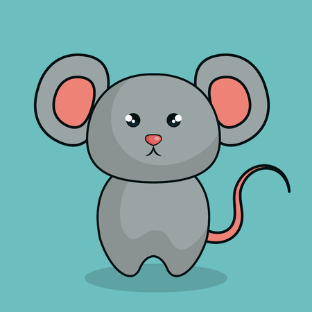 cute mouse stuffed icon vector illustration design