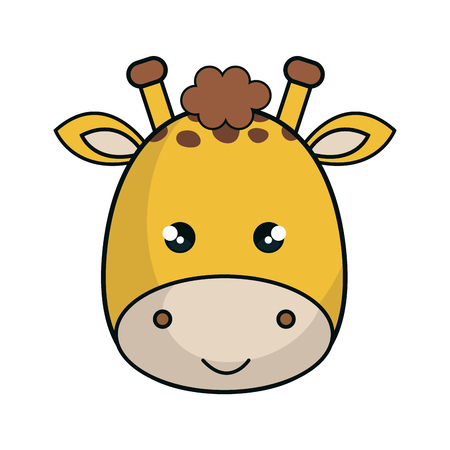 cute giraffe stuffed icon vector illustration design Çizim