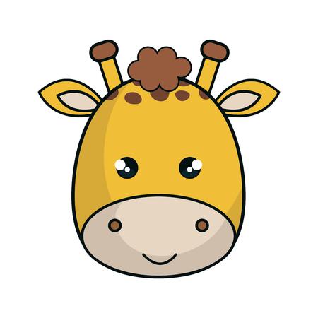cute giraffe stuffed icon vector illustration design Illustration