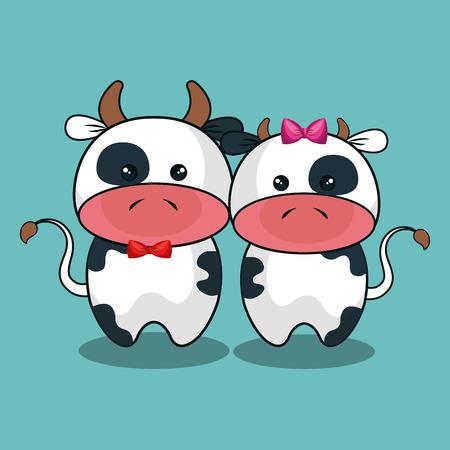 cute cow: cute cow stuffed icon vector illustration design