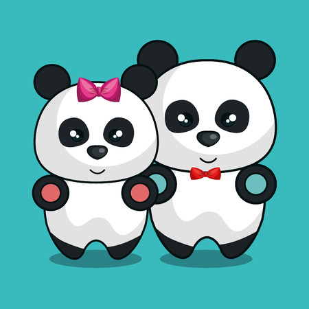 bear panda stuffed icon vector illustration design Illustration