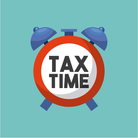 irs: tax time flat icons vector illustration design