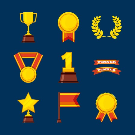 set awards championship icons vector illustration design Illustration