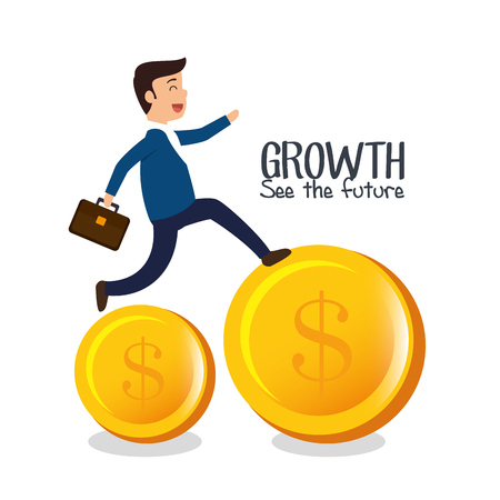 growth see the future concept vector illustration design