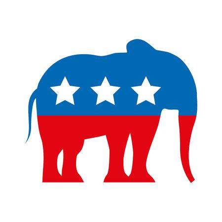 共和党エンブレム アイコン ベクトル イラスト デザインを分離しました。
