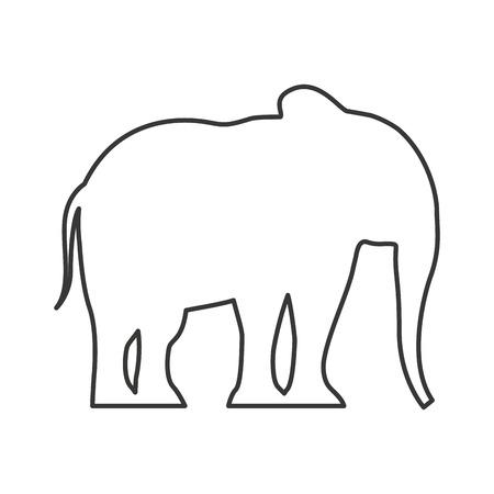 progettazione dell'illustrazione di vettore dell'icona isolata siluetta dell'elefante