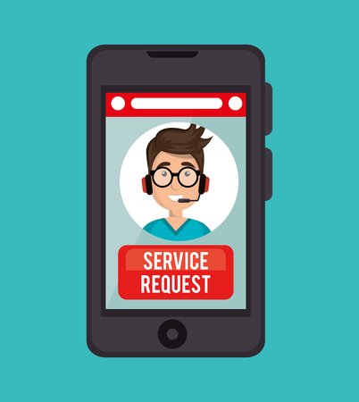 handsign: guy operator call center service request online