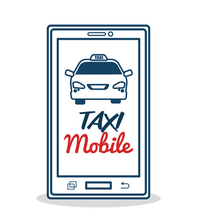 mobile application: taxi service mobile application transport vector illustration