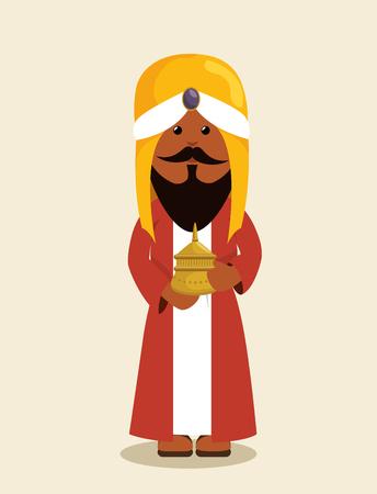 nativety: happy merry christmas manger character vector illustration design Illustration