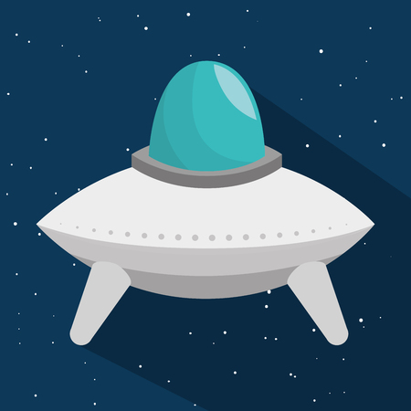 ship with gift: space craft toy isolated icon vector illustration design Illustration