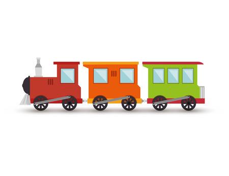 treno giocattolo isolato icona illustrazione vettoriale progettazione