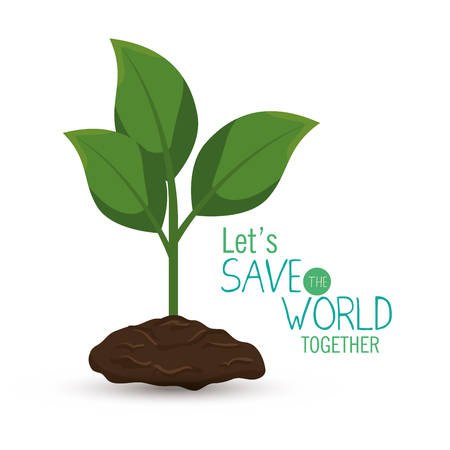 save the world concept icon vector illustration design Illustration