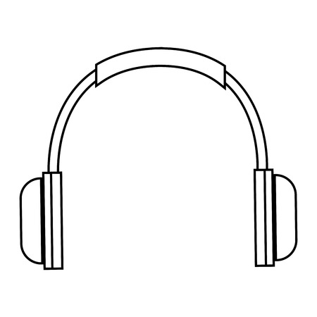 earphone: earphone device isolated icon vector illustration design