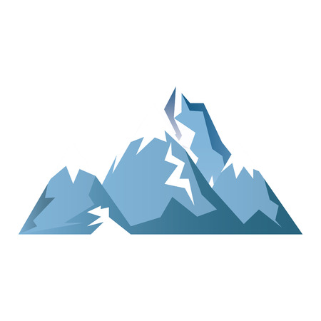 glacier: mountains glacier isolated icon vector illustration design Illustration