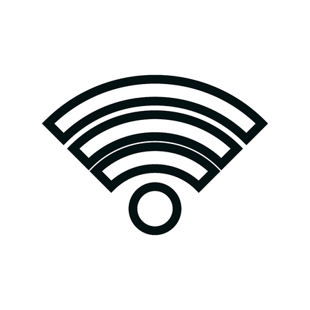 wifi connection isolated icon vector illustration design