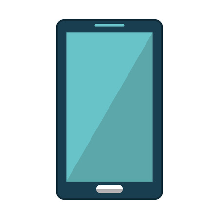 communicator: smartphone device isolated icon vector illustration design
