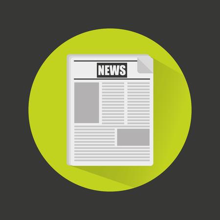 breaking news in newspaper vector illustration design Illustration